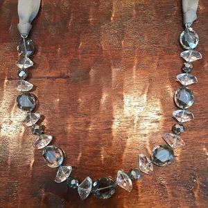Stella & Dot Vintage Crystal and Satin Necklace